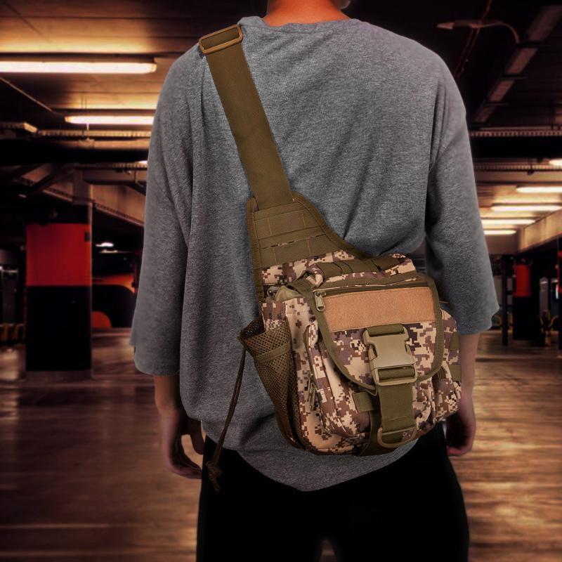 Сумка сумка слинг пакет прохладные плечо снасти мешки один многофункциональный специальный посланник удобный дизайн открытый рыбалка WPTNM