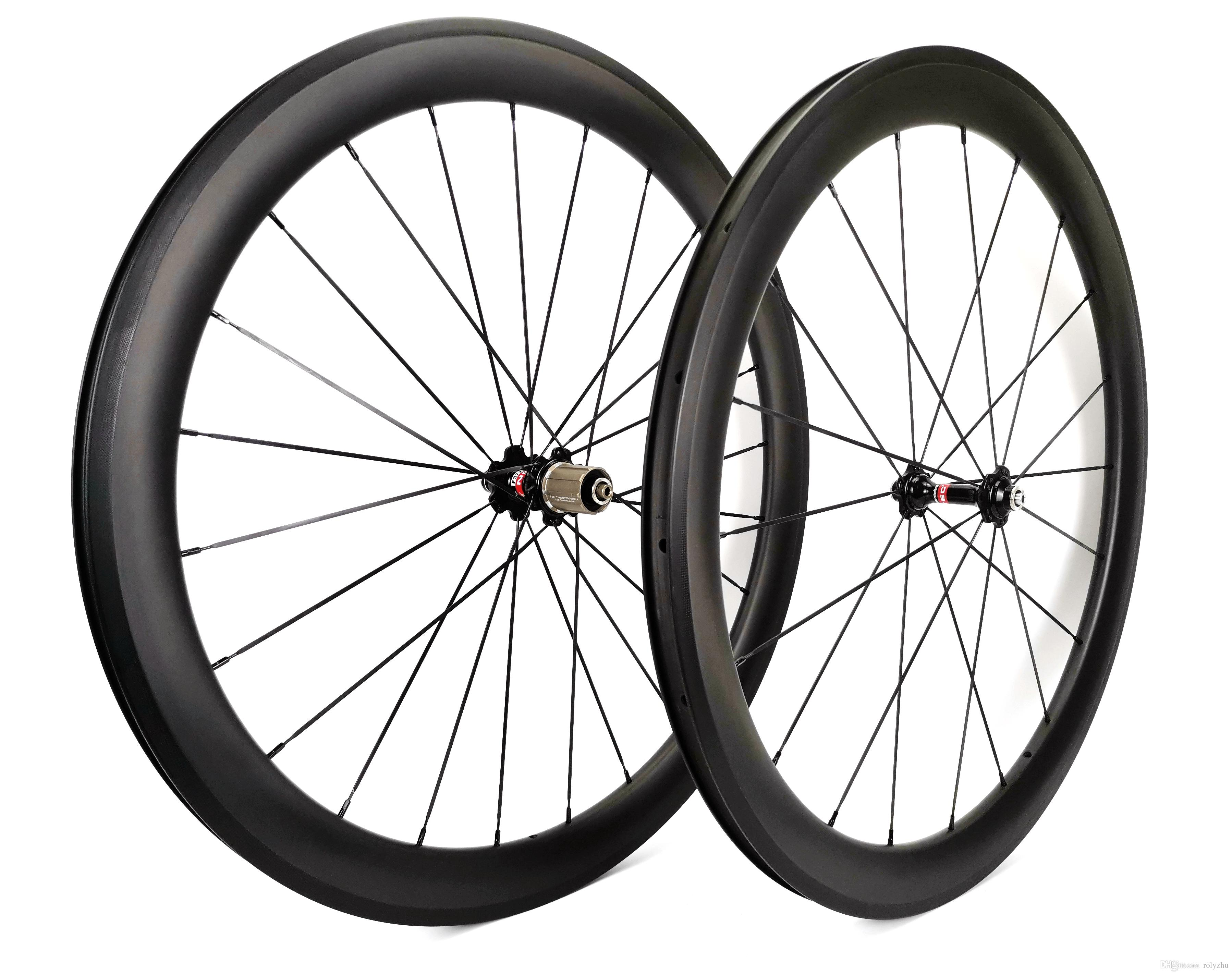 700C bici da strada del carbonio wheelset profondità 50 millimetri 25 millimetri di larghezza ruote in carbonio copertoncino con Novatec 271/372 hub, finitura opaca UD