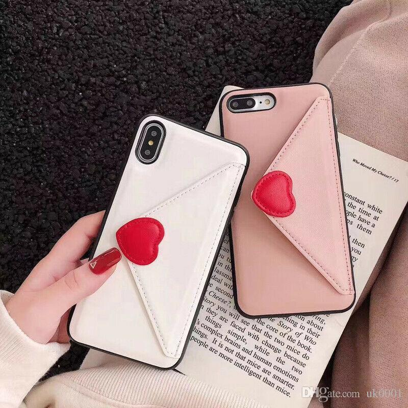 UK Love Heart Leather Wallet Phone Case for iPhone 11 11pro max for iphone 7 8 6 6s Plus X XR XS Max Cute