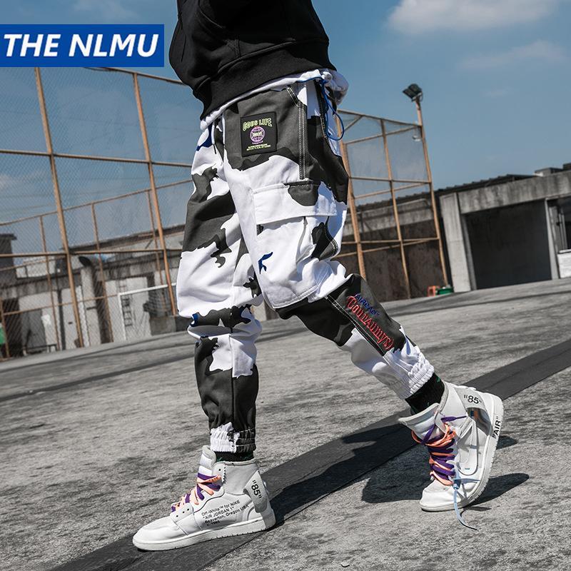 Fashion Harajuku Camouflage Joggers Pants Men Hip Hop Multi Pockets Elastic Waist Harem Trousers Streetwear Mens 2018 Pant WJ109