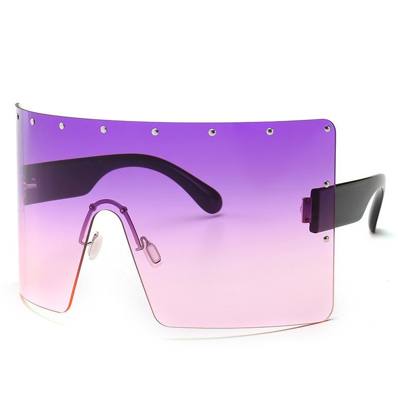 2020 جديد مصمم وصول المرأة luxtury إطار النظارات الشمسية الكبيرة للرجال والنساء في الهواء الطلق إطار النظارات الشمسية الكبيرة للرجال 400 الأشعة فوق البنفسجية زجاج الشمس