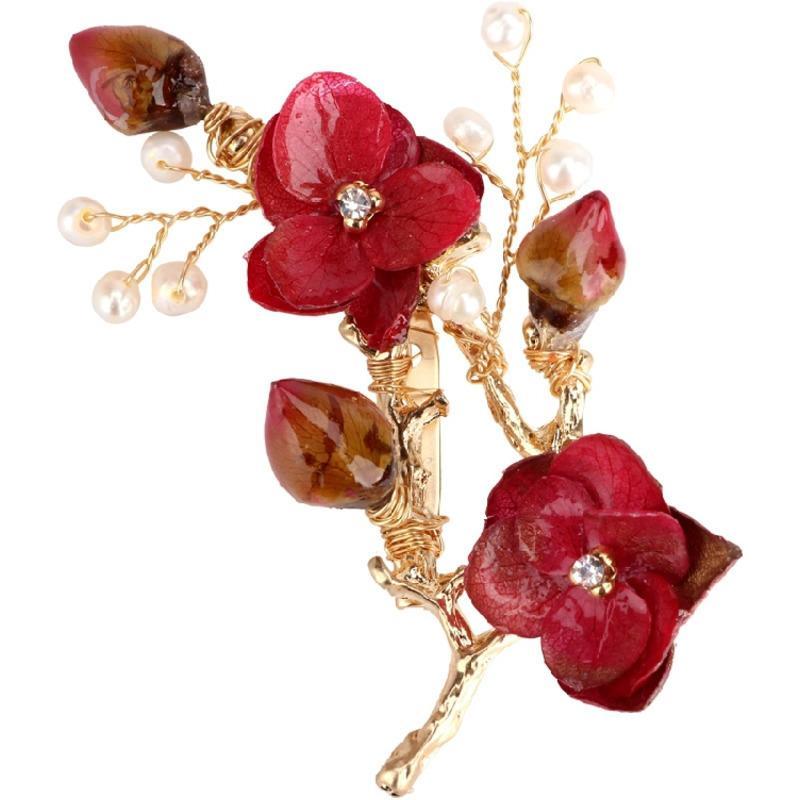 LANMREM Takı 2019 Yeni Coat Broş Pin Lüks Ebedi Çiçek Tatlısu Inci BroşGiyim Aksesuarları Dekorasyon YF52403