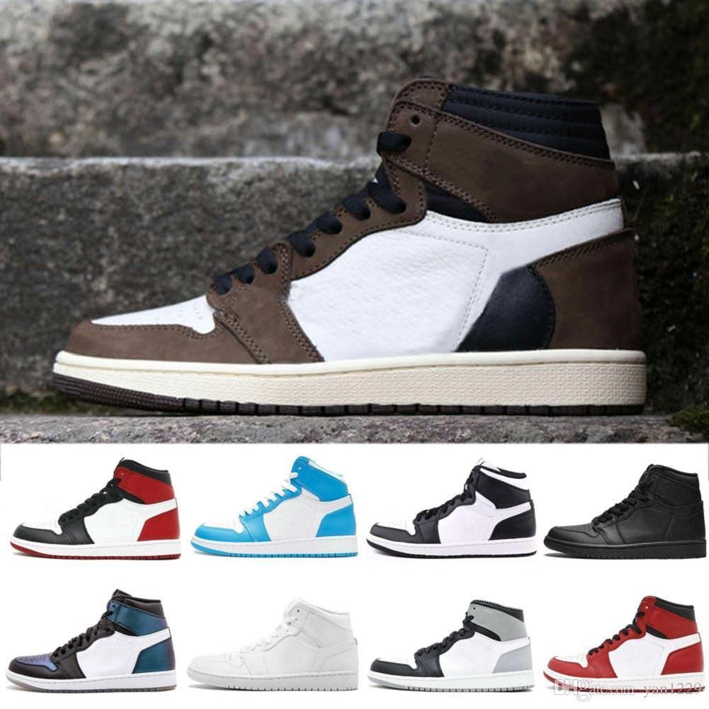 1s baratos 1 tênis de basquete das sapatilhas dos homens alta OG 10X UNC Branco 1s OG BG Top3 ouro Toe quebrado encosto Sombra calçados esportivos