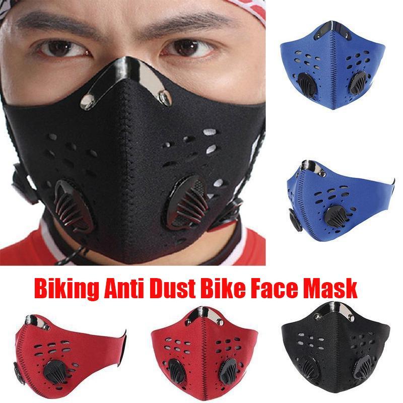 Nouveau vélo anti-poussière vélo masque facial Activé Équitation Cyclisme Course à pied Cyclisme carbone anti-pollution vélo Masque d'isolement Avec filtre OPP boîte