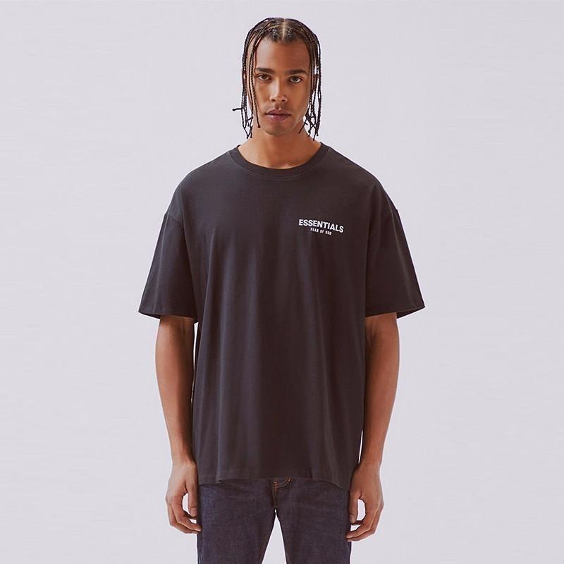 FFOG T-shirt FEAR OFF God Essentials BOXY Foto t-shirt T das mulheres dos homens de alta qualidade de algodão T-Shirt Oversize HFBYTX285