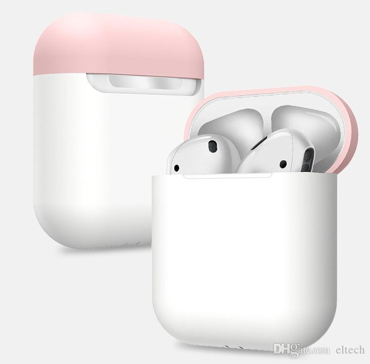 Custodia per auricolare per Apple AirPods Custodia per auricolari Bluetooth wireless per cuffie True Air Cuffie protettive Accessori AirPod