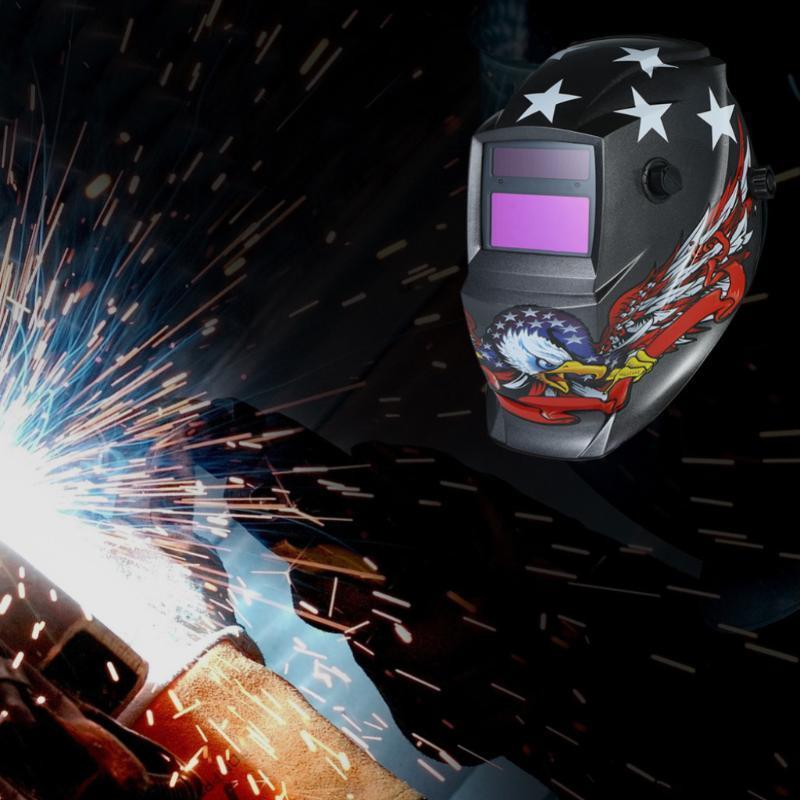Pro Solar Auto Escurecimento Welding Helmet Arc Tig Mig máscara máscaras Baterias Grinding soldador de solda Capacete de lítio partido