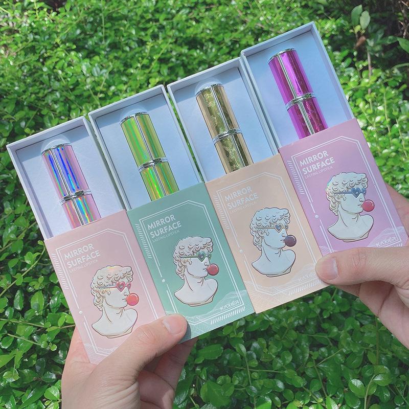 밝은 오로라 오로라 립스틱 밝은 별 매력 색 립스틱 비 방수 정품 제품 매트 립스틱을 표시 긴 지속