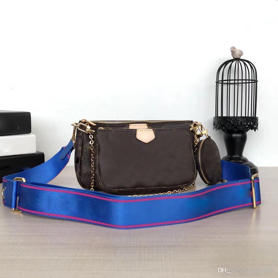 Mogram-Taschen Luxus Handtaschen Messenger Ysiyki V 3 stücke Tote Schulter echtes Leder Brieftasche Geldbörsen Designer Taschen Set Kupplung Crossbody Drei-I-UAEB