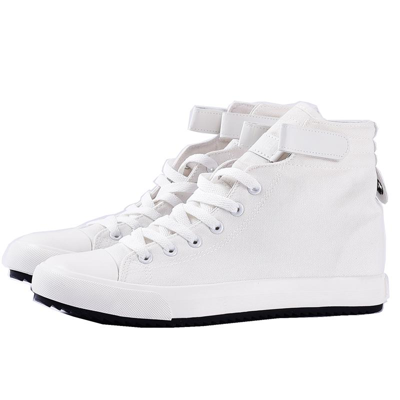Invisible Increase 8/5/3 CM High Top Sneakers Men Canvas Shoes Men Casual Breathable Shoes Man White Trainers Mens Chunky Sneakers