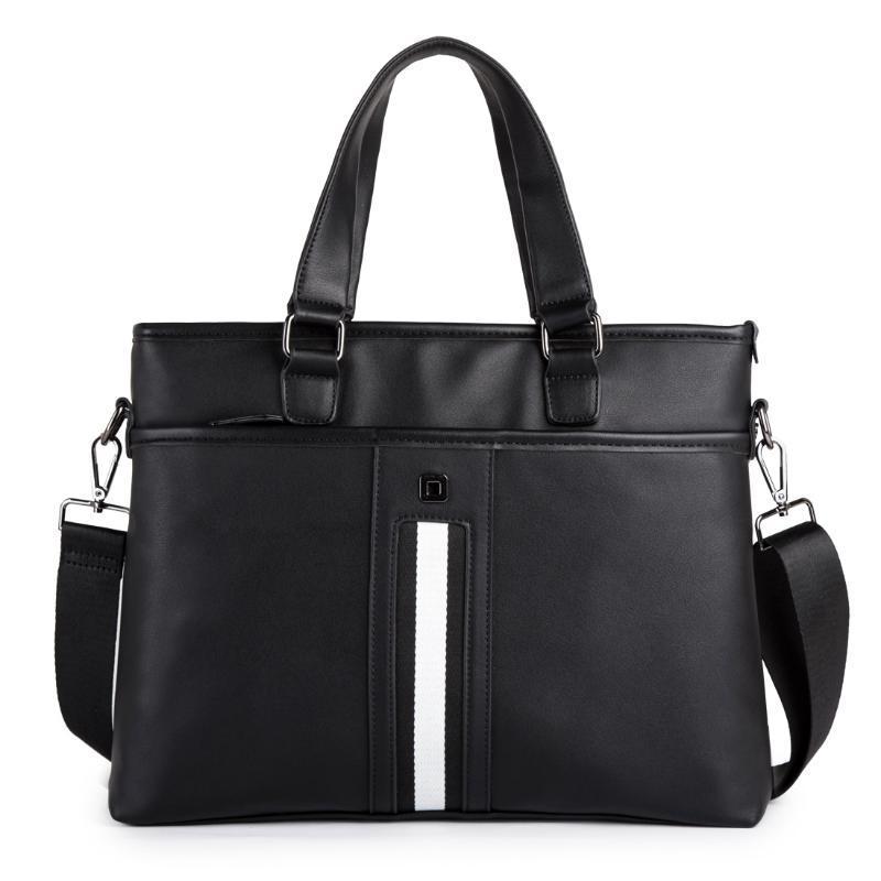 Large Capacity Case Shoulder Bag PU Office Laptop Messenger Handbag Business Briefcase Bags Men Document Bag Lakfu