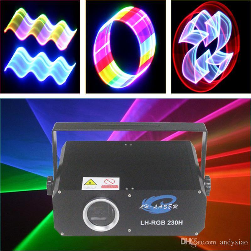1W RGB DMX Full Color ILDA Animation Laser Lighting DJ Stage Effect 1 Watt 1000mW From lh-laser