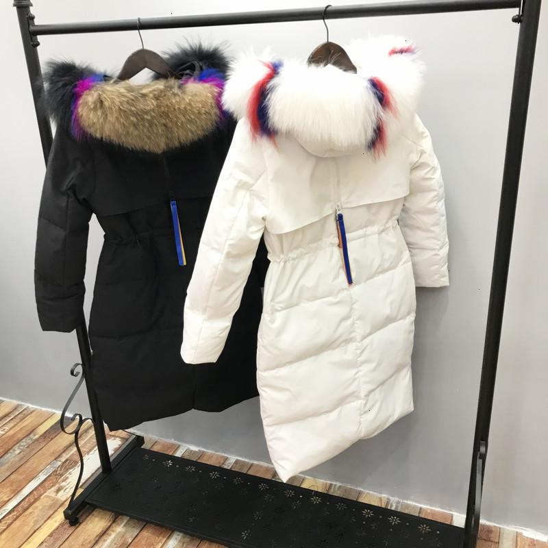 Season Back Luxurious Down Jackets Girls Long Section Charge Self-cultivation Colour Exceed Heavy Seta Lead Tide