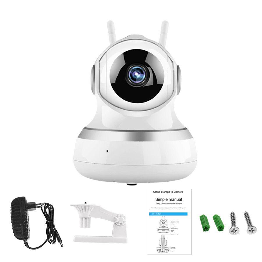 كاميرا مراقبة لاسلكية 360 درجة تناوب يهز رأس ذكي سحابة التخزين wifi الأمن infrared للرؤية الليلية surveyillan