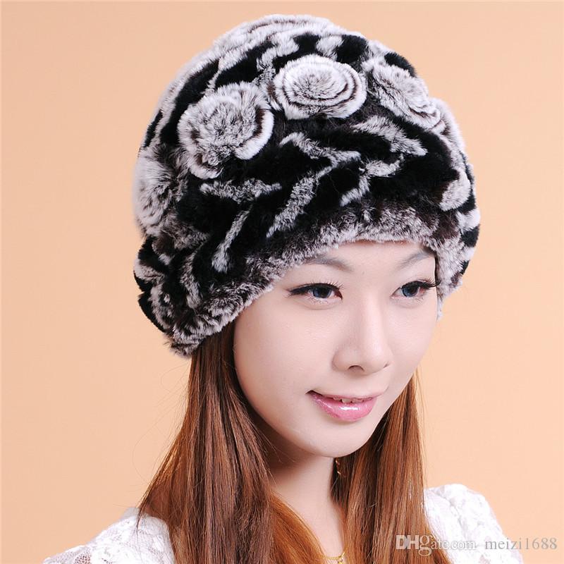 Женщины теплая зимняя шапка модные аксессуары переплетения меховые шапки высокого качества новая мода шляпа женщины зимняя шапка бесплатная доставка