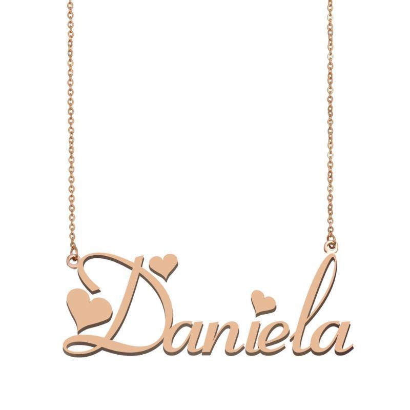 Daniela NOME, collana nome personalizzato per le donne ragazze Best Friends Compleanno Matrimonio Madre Days regalo di Natale