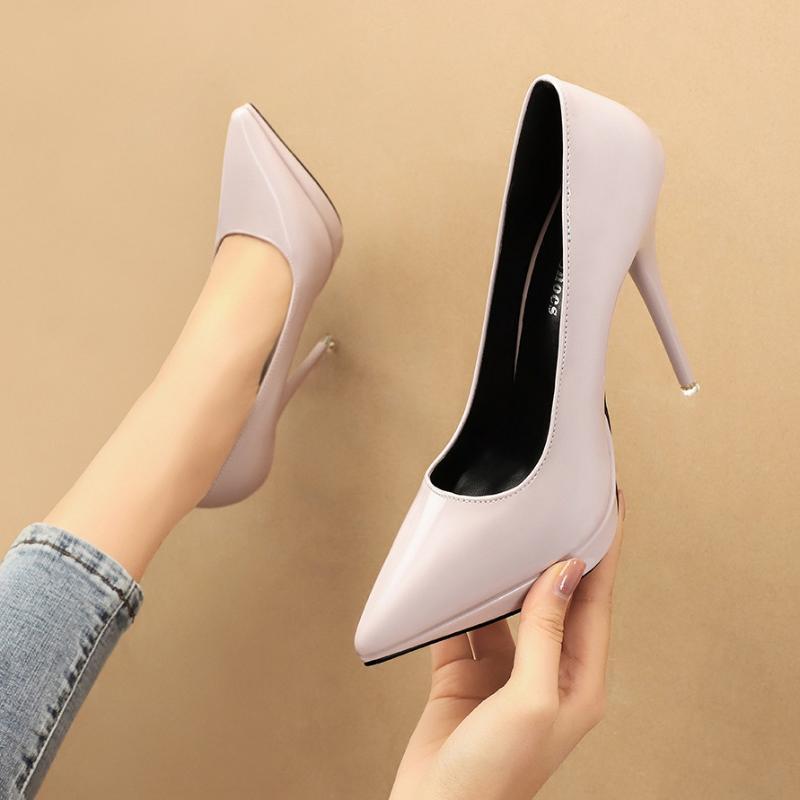 Корейская модная обувь Женская платформа высокие каблуки ночной клуб Сексуальная лаконичная супер партия свадьба дамы женщина светло фиолетовый 4 Цвет PU