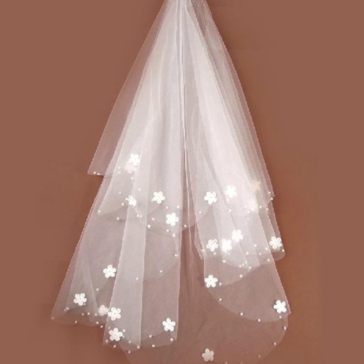 Лучшие продажи невесты слоновая кость свадебная фата тюль бисером цветок свадебные вуали 2020 невеста вуали свадебные аксессуары