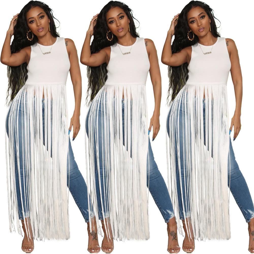 2019 женщин кистями обрезать топы белая уличная футболка без рукавов летняя мода круглый воротник футболка девушки повседневная футболка