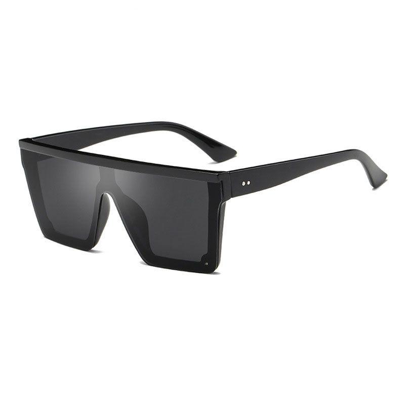neue, moderne Flat-Top-Sonnenbrille stilvoller Männer quadratische Gläser für Frauen arbeiten Vintage-Sonnenbrille oculos de sol