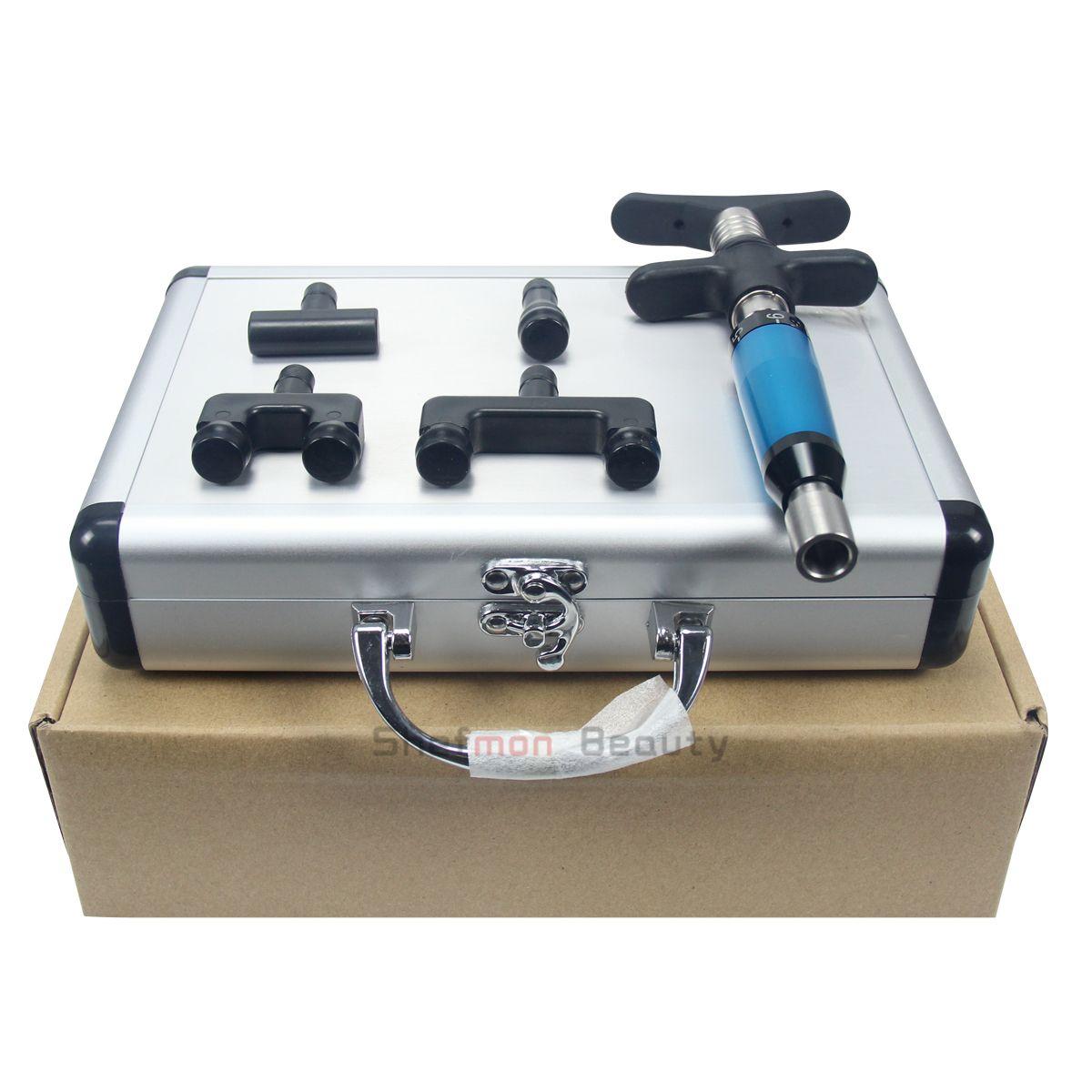 Manuel Chiropratique 4 Têtes Ajustage Chiropratique Correction Instrument Gun Activator Massager / régleur impulsion pour usage personnel clinique