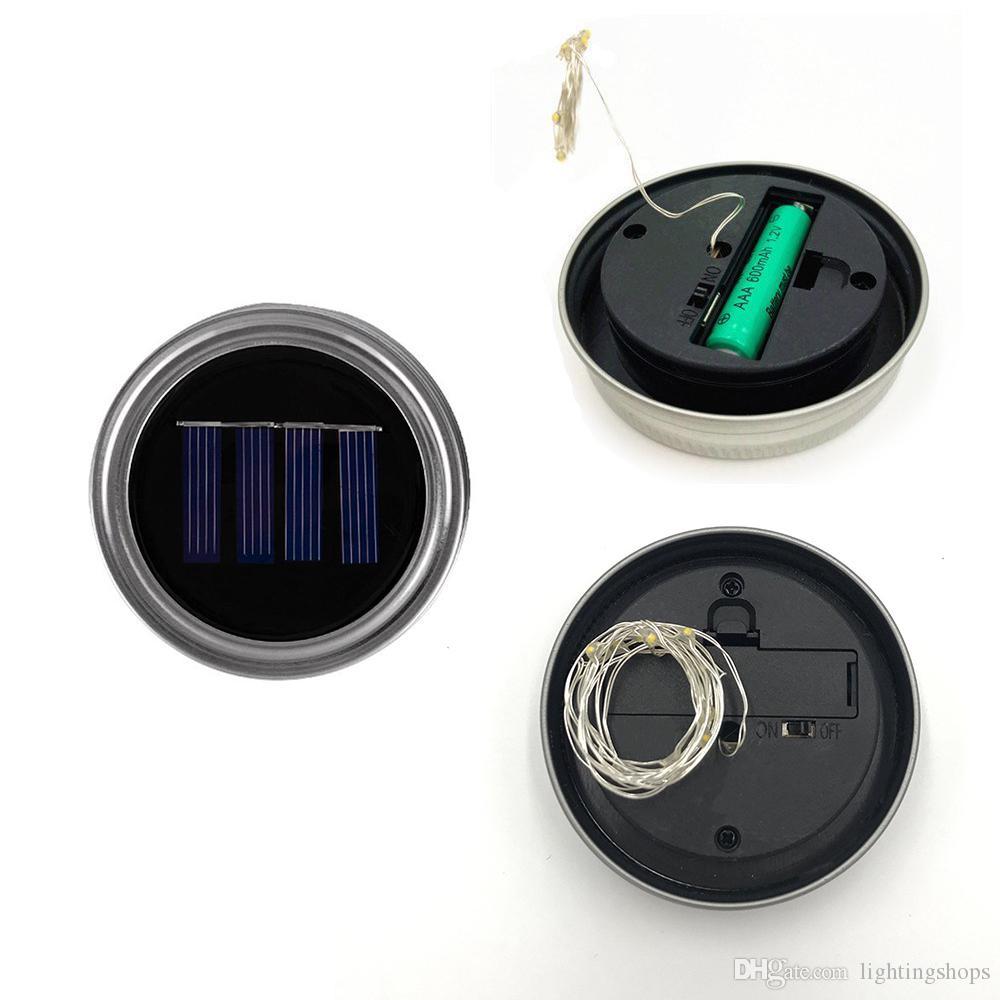 سلسلة ضوء تعمل بالطاقة الشمسية LED ميسون الجرار الخفيفة الجنية ستار إضاءة كبيرة للحديقة عيد الميلاد هدية حزب الديكور