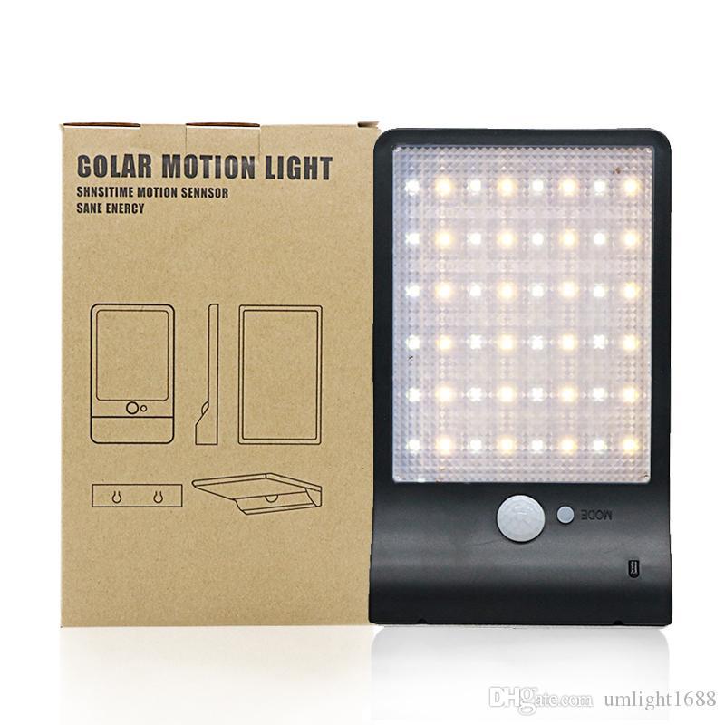 Umlight1688 60 шт. Модернизированный 48 светодиодов Солнечный Свет Цвет Регулируемый С Контроллером 3 Режима Водонепроницаемый Свет Лампы Для Наружной Стене Сада