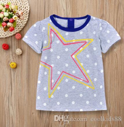 Дети дети мальчики лето с короткими рукавами круг точечный принт футболка одежда Детские футболки для мальчиков мальчики футболки baby girl топы