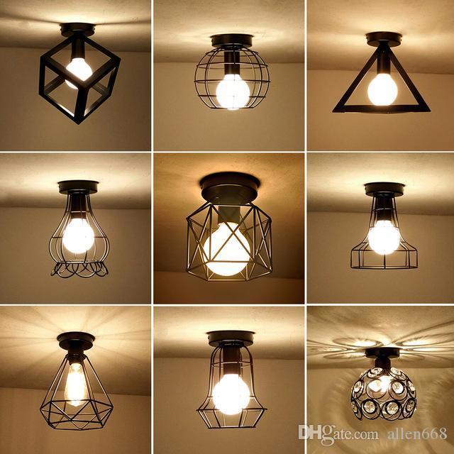 Vintage Tavan Lambaları Lamparas De Techo parıltı Luminaria Abajur Tavan Lambası Ev Aydınlatma Avize Armatür Salon Işıklar