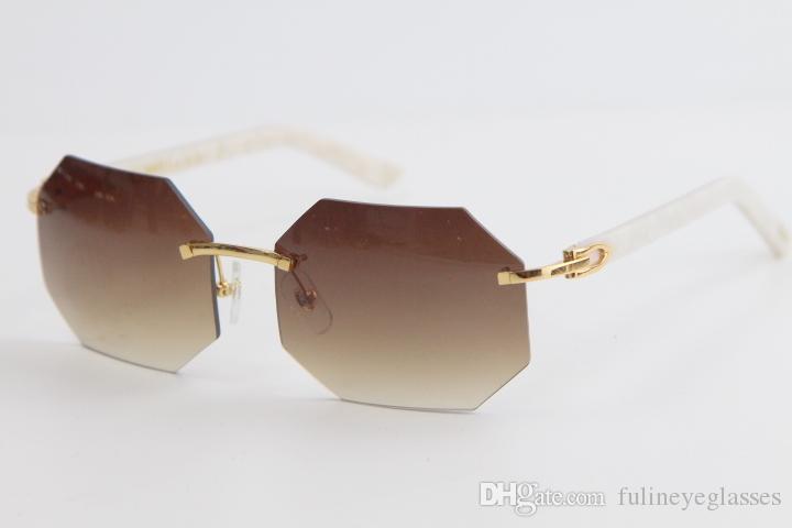 상자 공장 도매 무테 대리석 판자 쉴드 선글라스 사각형 선글라스 높은 품질 Adumbral 안경 남성과 여성