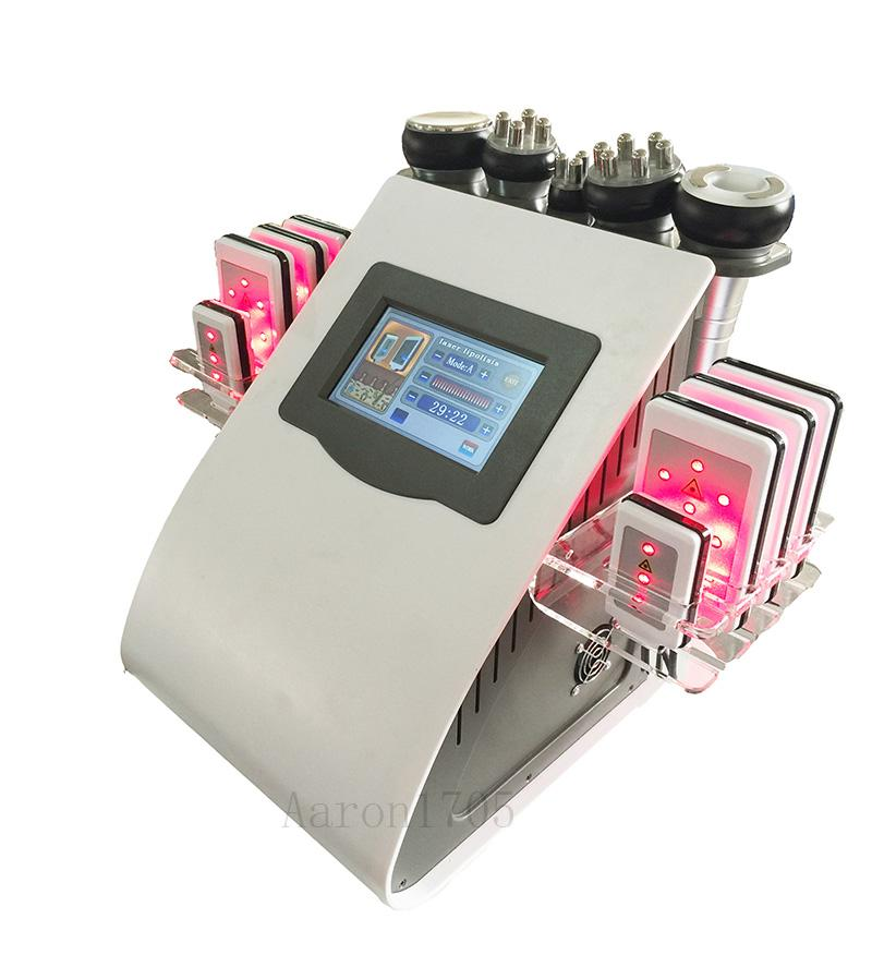 초음파 캐비테이션 지방 흡입 고주파 레이저 슬리밍 진공 RF 셀룰 제거 피부 관리 살롱 미용기의 Lipo 8 개 패드