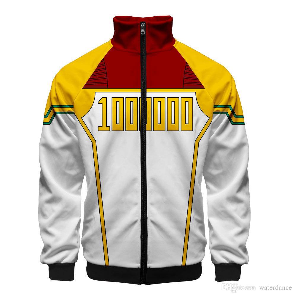 2019 Hot New men zipper cardigan sweater cosplay 3d printing sweater student jackets boy girl hip hop streetwear teens Sweatshirts #0036