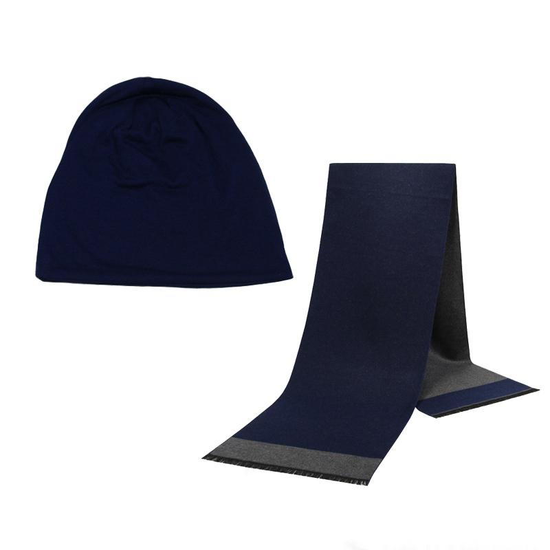 Bonnet d'hiver Chapeau Homme Chapeau Foulard Couleur Coton Foulard massif chaleureux et sensuel Ensemble Homme Femme Sport Set 2 pièces