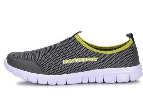 Sneakers erkek Yaz Ayakkabı 2019 Yeni Artı Boyutu 35-46 Rahat Erkekler Rahat Ayakkabılar Örgü Nefes Loafer'lar Flats ayakkabı Ayakkabı