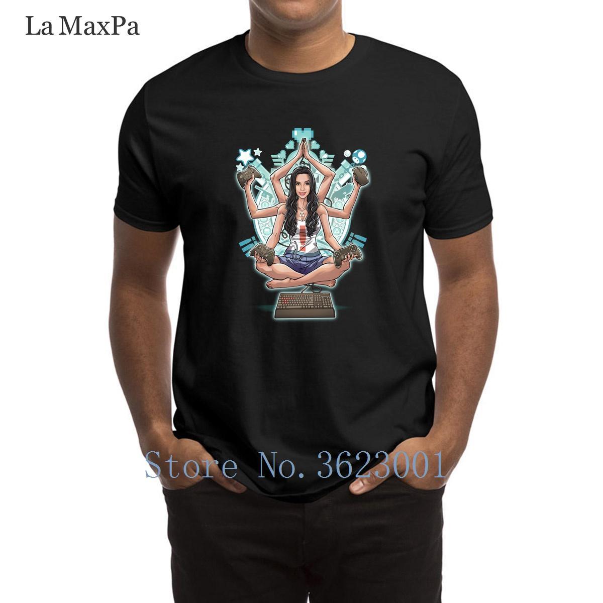 Imprimé naturel T-shirt du jeu L'harmonie des hommes T-shirt élégant de base solide pour hommes T-shirt Taille authentique S-3XL hommes T-shirt Hiphop