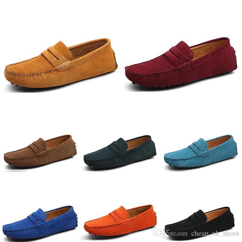 2020 uomini nuovi scarpe casual Espadrillas nero azzurro arancio castagna grigio scuro mens verde scarpa da tennis all'aperto camminare trasporto libero