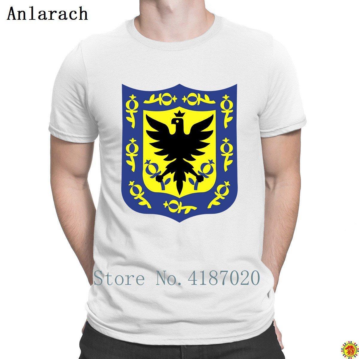 Sigillo di Bogota Colombia T Shirt Design maglietta degli uomini estate Vintage Fashion Tee Tops Strano alta qualità