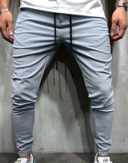 Capris Track Pants For Men Casual Loose Pants Spring Autumn Fashion Trousers Elastic Waist Pencil Pants