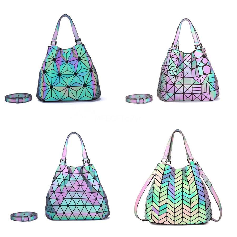Livraison gratuite Fashion Designer Sac à main femme Pu Sacs à main lumineux Ladies épaule portable Sac bureau dames Besaces géométrique L6 # 618