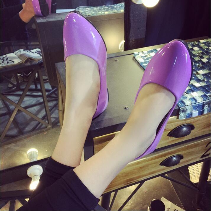 Klassischer Stil Beige Schwarz Ballerinas Lackleder Damen Loafers 8 Farben Größe 35-42 Mit Box Lady Ballet Shoes Flats Loafers