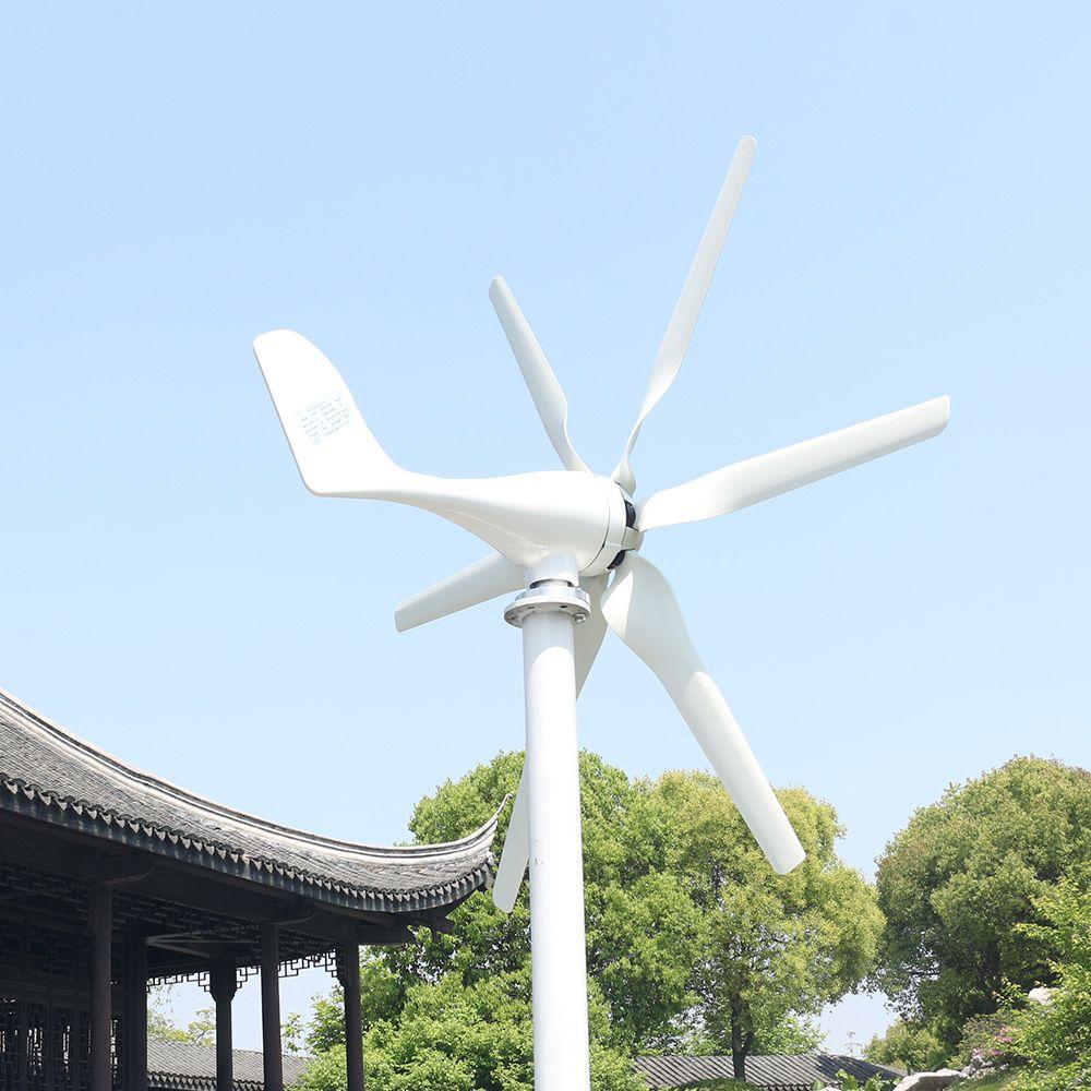 800w Serbest Enerji Rüzgar Enerjisi YÜKSEK Verimli 48V Rüzgar Türbini Jeneratörü ile MPPT Kontrolör Home For Yat Çiftliği Sokak Lambaları