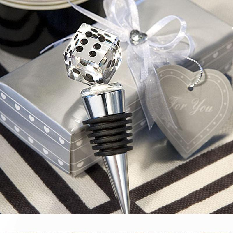 A Las-Vegas Themed Crystal Dice Bottle Stopper Event Party Supplies Wedding & Bridal Shower Favors Free Shipping wen5031