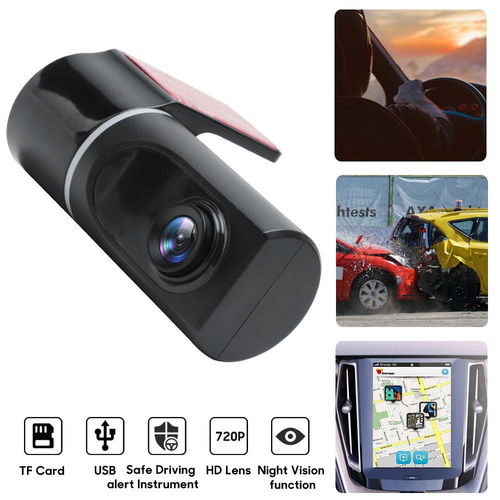 USB DVR سيارة كاميرا فيديو مسجل أداس كاملة HD 720P عدسة واسعة الزاوية داش كاميرا للحصول على الروبوت 6.0 8.0 سيارة دعم رصد DVD