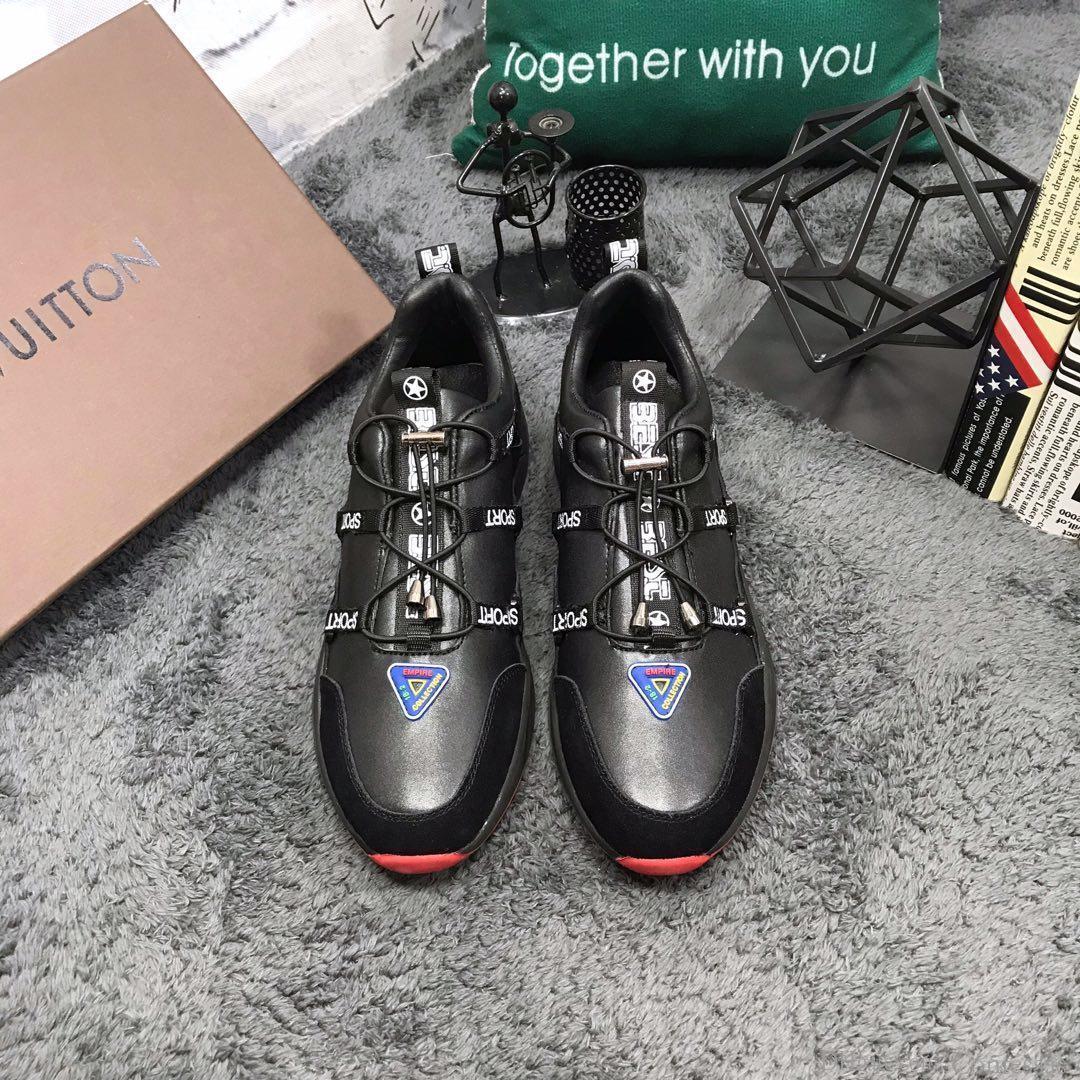 2019a sonbahar yeni lüks erkek s ayakkabıları deri düşük top rahat ayakkabılar, yüksek kaliteli moda vahşi spor erkek ayakkabıları, boyut: 38-44