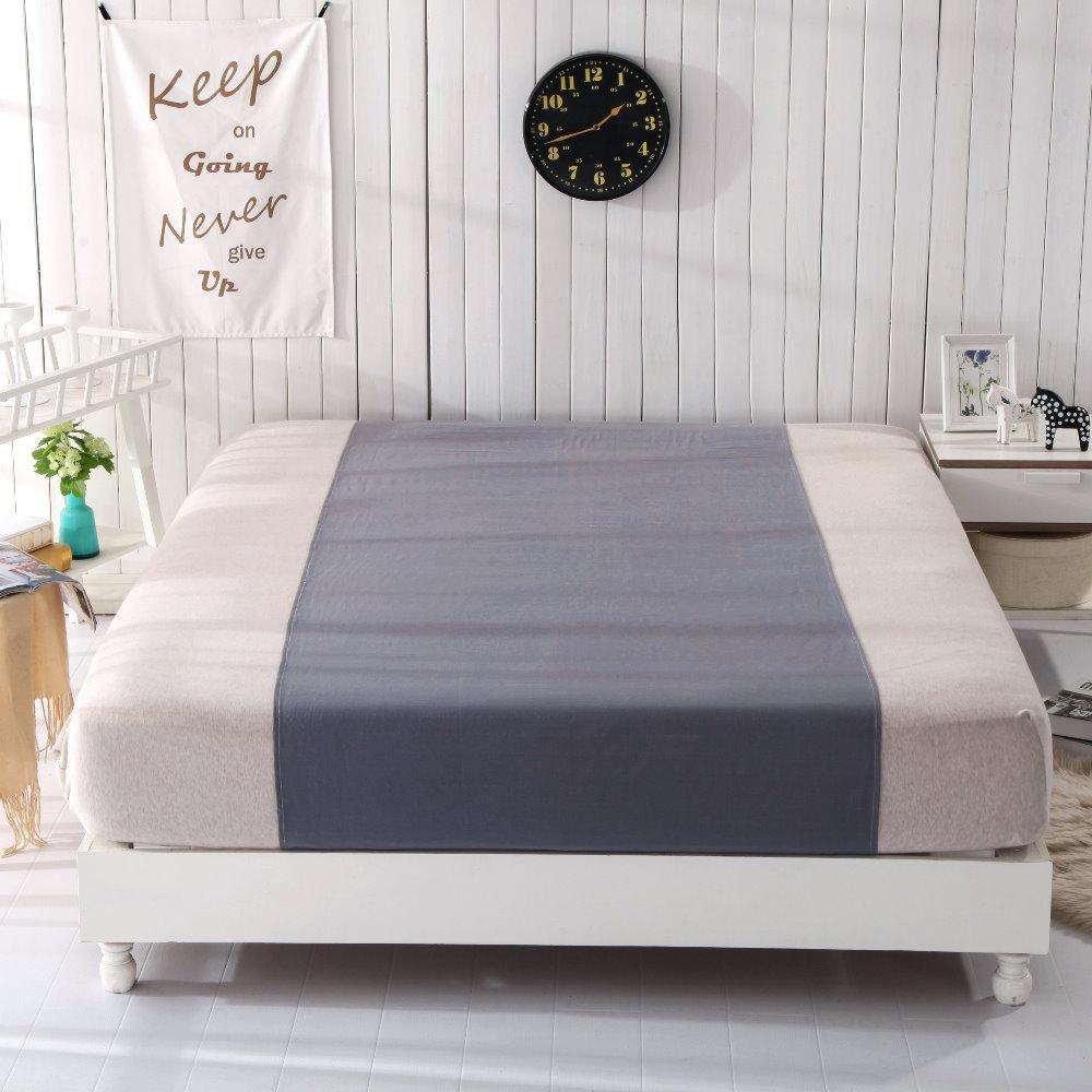 Grounded Half Bettlaken Grau Farbe 90 * 270cm Großhandel