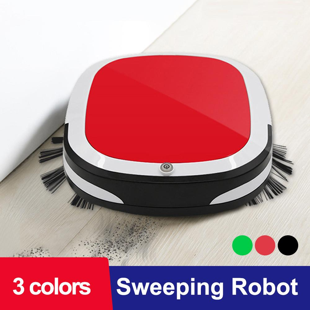 JuneJour recarregável inteligente Robot 2000PA Aspirador de pó seco Wet Máquina varredora Sweeper Cordless Auto poeira para limpeza Início