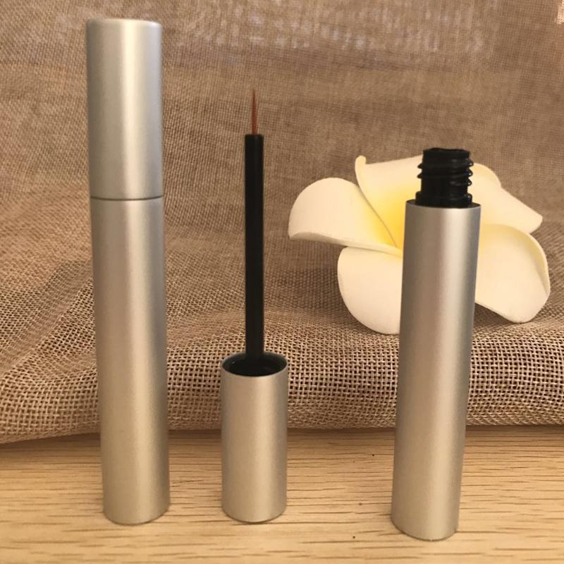 Argent bouteilles vides de tube noir yeux en plastique liquide Bouteilles Eyeliner Mascara en gros Vente au détail Crème Emballage 200pcs Contenants