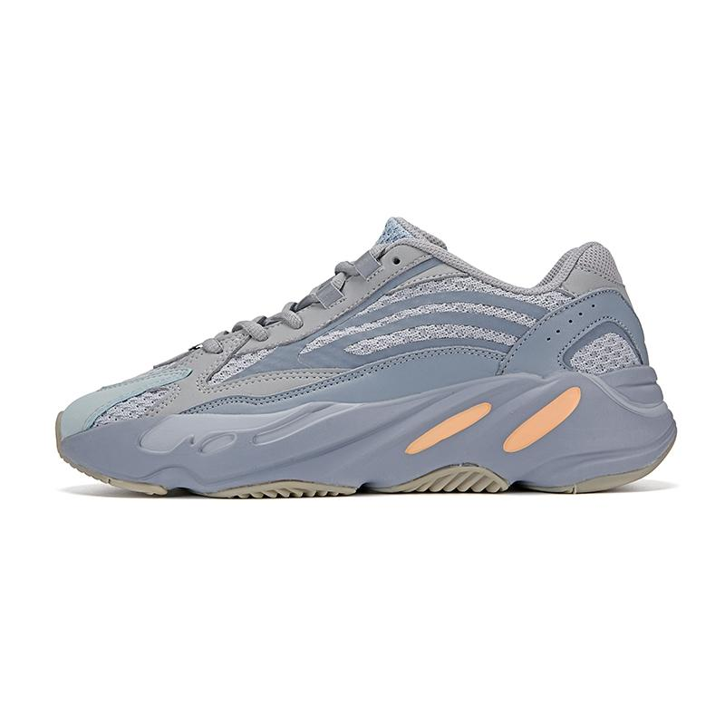 2020 New Azaël Alva 700 V3 Kanye West Hommes Chaussures de course Blanc Phosphorescent Luxe Outdoor Hommes Femmes Designer Sport Chaussures Avec # DSK593