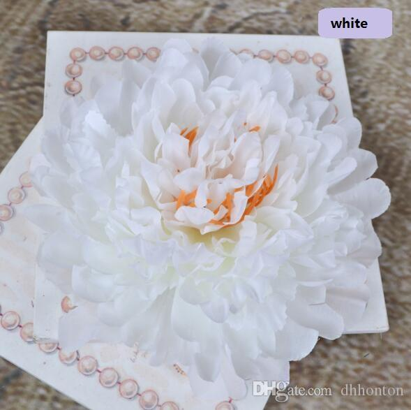 fiori artificiali grandi teste Peony a parete del fiore decorazione di nozze fiori decorativi all'ingrosso grande lusso teste artificiale Peony