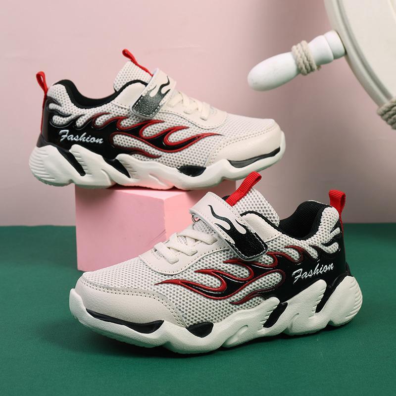Chaussures de sport pour enfants Chaussures de course garçons Chaussures de tennis Basket Chaussures Mode respirant Chaussures de marche confortables T200604